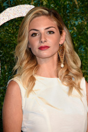 Tamsin Egerton looked fab with her windswept waves at the British Fashion Awards.