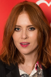 Angela Scanlon rocks a messy, tousled look.