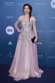 Hayley Atwell looked regal in a beaded lavender gown by Jenny Packham at the British Independent Film Awards.