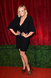 Emma Bunton stepped into a pair of animal print platform pumps for the 2012 British Soap Awards.