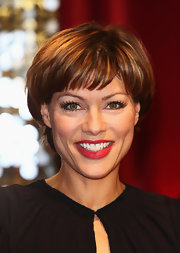 Kate Silverton wore a short and sweet 'do with wispy bangs at the British Soap Awards.