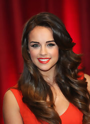 Georgia May Foote wore her long hair in gorgeous bouncy curls at the British Soap Awards.