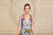 Britt Robertson Embroidered Dress