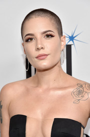 Halsey worked a buzzcut at the BMI Pop Awards.