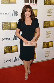 Marie Osmond rocked a capped-sleeve LBD while at the Critics' Choice Television Awards.