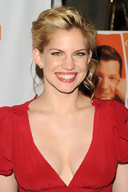 Anna Chlumsky showed off her blonde curls while attending the Tribeca Film Festival.
