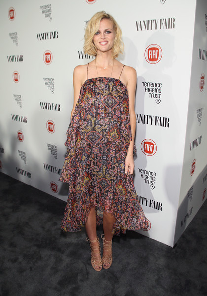 Brooklyn Decker Gladiator Heels [vanity fair,flooring,shoulder,fashion model,joint,carpet,long hair,cocktail dress,girl,premiere,red carpet,actress,brooklyn decker,james corden,krista smith,model,no vacancy,hollywood - fiat,young hollywood celebration,celebration]
