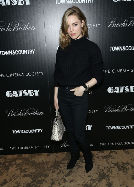 Melissa George kept her look on the casual side with this pair of solid black jeans.