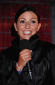 Davina McCall wore a glamorous side-swept chignon for an episode of 'Big Brother.'