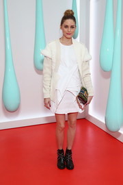Olivia Palermo donned a structured LWD by Alexander Wang for the launch of Burberry's DK88 bag.