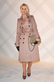 Melanie Laurent was breathtaking in a dusky rose trenchcoat with just the right amount of sheen.