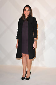 Deborah Grall topped off her ensemble with classic black pumps.