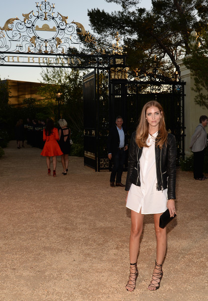 More Pics of Chiara Ferragni Lipgloss (5 of 12) - Makeup Lookbook - StyleBistro [photograph,white,fashion,snapshot,lady,leg,footwear,photography,fun,street fashion,chiara ferragni,los angeles,london,california,griffith observatory,burberry,red carpet,event]