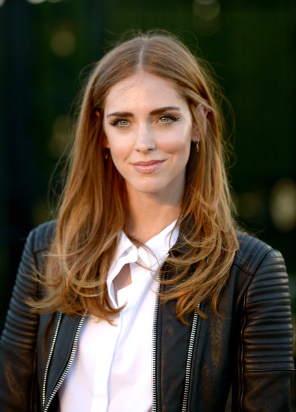 More Pics of Chiara Ferragni Lipgloss (3 of 12) - Makeup Lookbook - StyleBistro [hair,face,blond,street fashion,hairstyle,long hair,beauty,layered hair,leather,eyebrow,chiara ferragni,los angeles,london,california,griffith observatory,burberry,red carpet,event]