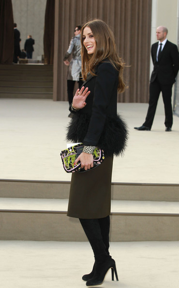 More Pics of Olivia Palermo Knee Length Skirt (2 of 5) - Knee Length Skirt Lookbook - StyleBistro