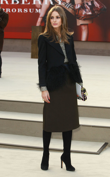 More Pics of Olivia Palermo Knee Length Skirt (1 of 5) - Knee Length Skirt Lookbook - StyleBistro