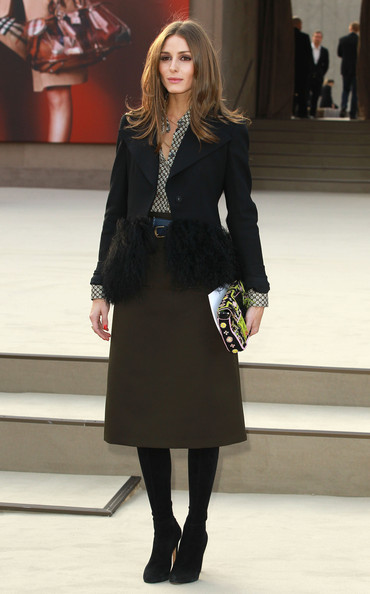 More Pics of Olivia Palermo Knee Length Skirt (5 of 5) - Knee Length Skirt Lookbook - StyleBistro