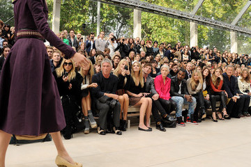 Mario Testino Rosie Huntington-Whiteley Burberry Spring Summer 2012 Womenswear Show - Front Row And Backstage