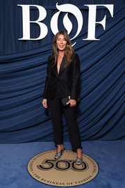Nina Garcia opted for a simple black pantsuit when she attended the 2019 #BoF500 Gala.