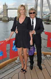 Penny Lancaster teamed her LBD with a pair of elegant pumps.
