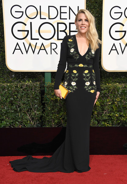 Busy Philipps Embroidered Dress