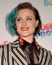 Evan Rachel Wood went punk with this blue-streaked wavy bob at the Queer Prom for LGBT Youth.