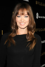 Olivia Wilde looked bright eyed in nude eyehsadow.