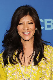 Julie Chen showed off her long dark tresses with soft waves.