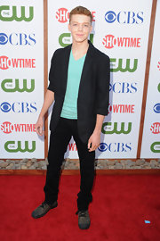 Cameron Monaghan attended CBS, The CW & Showtime's 2011 TCA Party in a polished black blazer.