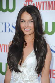 Camilla Luddington's super long locks were worn in shiny waves.