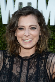 Rachel Bloom sported tousled shoulder-length waves at the CBS Summer TCA Party.