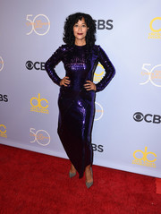 Tracee Ellis Ross added extra sparkle with a pair of silver Christian Louboutin pumps.