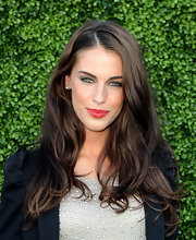 Jessica Lowndes showed off her long curls while walking the red carpet at the CBS Summer party.