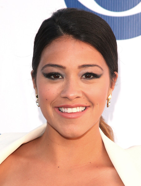 More Pics of Gina Rodriguez Pumps (1 of 4) - Gina Rodriguez Lookbook - StyleBistro [face,hair,eyebrow,skin,chin,hairstyle,lip,facial expression,forehead,cheek,arrivals,gina rodriguez,the london west hollywood,california,cbs,summer soiree,cbs summer soiree]