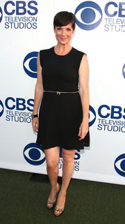 Zoe McLellan opted for a no-frills LBD when she attended the CBS Summer Soiree.