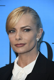 Jaime Pressly pulled her tresses back into a tight ponytail for the 'Mom' 100 episodes celebration.