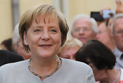 Angela Merkel wore a beaded choker necklace to the CDU Leadership Meeting.