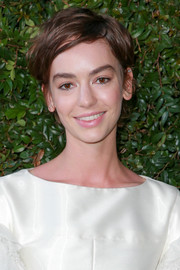 Brigette Lundy-Paine sported a messy short 'do at the Chanel dinner celebrating Our Majestic Oceans.