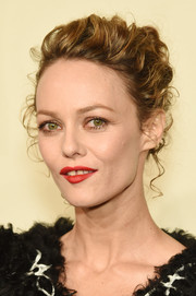 Vanessa Paradis was elegantly coiffed with this loose bun at the Chanel Paris-Salzburg show.