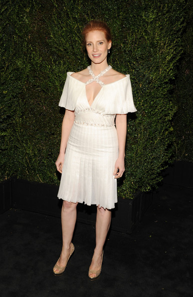 Jessica Chastain at the 2013 Chanel Pre-Oscars Dinner at Madeo