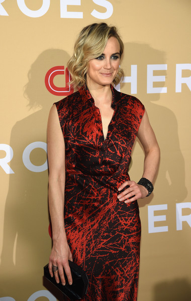 More Pics of Taylor Schilling Print Dress (1 of 9) - Dresses & Skirts Lookbook - StyleBistro [clothing,dress,cocktail dress,fashion model,hairstyle,fashion,premiere,carpet,long hair,flooring,arrivals,cnn heroes 2015,red carpet arrivals,taylor schilling,new york city,cnn heroes,american museum of natural history]