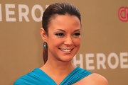 Eva la Rue wore her hair in a  simple, super sleek ponytail at the 2011 CNN Heroes: An All-Star Tribute.