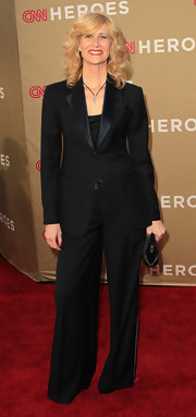 Laura Dern kept her red carpet style sharp an classic in a black suit at the CNN All-Star Tribute.