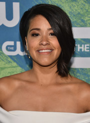 Gina Rodriguez worked a cool and modern asymmetrical cut at the CW Network's 2016 New York Upfront.