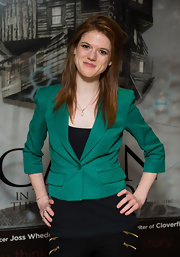 Rose Leslie chose a bold basic for The Cabin in The Woods premiere.