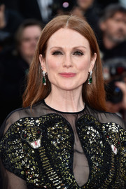 Julianne Moore was casually coiffed with this loose center-parted hairstyle at the Cannes opening gala.