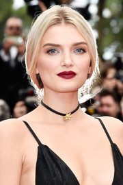Lily Donaldson channeled Queen Elsa with this loose braid for the Cannes opening gala.