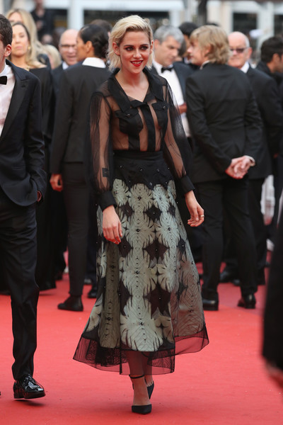 Kristen Stewart sent pulses racing with this hot-off-the-Chanel-runway sheer button-down shirt at the Cannes opening gala.
