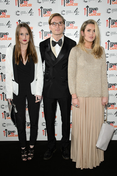 Caggie Dunlop Chainmail [suit,premiere,event,fashion,formal wear,tuxedo,fashion design,pantsuit,carpet,style,caggie dunlop,rosie fortescue,oliver proudlock,l-r,england,london,mills studio,stand up to cancer,fundraiser]