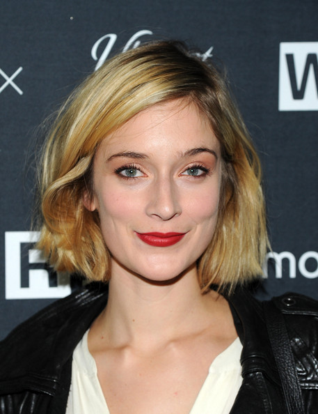 Caitlin Fitzgerald Bob [caitlin fitzgerald,hair,face,hairstyle,blond,eyebrow,lip,chin,forehead,layered hair,long hair,wired store,new york city,wired store opening]